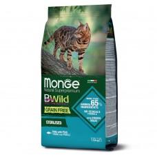 Monge Cat BWild GRAIN FREE беззерновой корм из тунца для стерилизованных кошек 1,5 кг