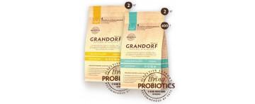 Сухие низкозерновые корма с живыми пробиотиками для кошек Grandorf