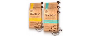 Сухие низкозерновые корма с живыми пробиотиками GRANDORF