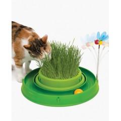 Зеленый игровой круг с мини-садом с травой