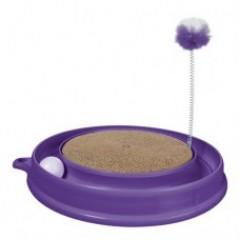 Когтеточка PLAY-N-SCRATCH круглая, фиолетовая