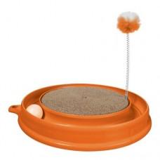 Когтеточка PLAY-N-SCRATCH круглая, оранжевая