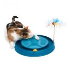 Круглый голубой массажный центр с мячиком и игрушкой-пчелкой