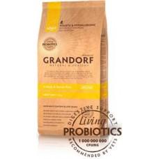 Сухой низкозерновой корм с живыми пробиотиками для собак Grandorf - 4Meat & Brown Rice Adult Mini  (Четыре вида мяса с бурым рисом для взрослых собак мелких пород) - 1 кг