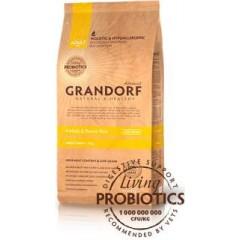 Сухой низкозерновой корм с живыми пробиотиками для собак - 4Meat & Brown Rice Adult Mini  (Четыре вида мяса с бурым рисом для взрослых собак мелких пород) - 1 кг