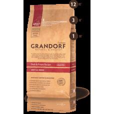 Корм Grandorf беззерновой, для взрослых собак всех пород: утка с бататом - 12 кг