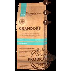 Корм Grandorf для взрослых собак всех пород: четыре вида мяса с бурым рисом - 1 кг