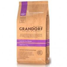 Корм Grandorf для взрослых собак крупных пород: ягненок с рисом - 12 кг
