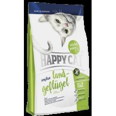 Happy Cat Сухой корм для кошек с чувствительным пищеварением Sensitive Домашняя птица 4кг