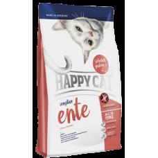 Happy Cat Сухой корм для кошек с чувствительным пищеварением Sensitive Утка 4кг