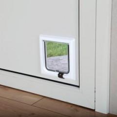 Дверца для кошки 2 позиции белая