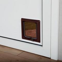 Дверца для кошки 2 позиции коричневая