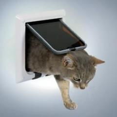 Дверца для кошки 4 позиции белая