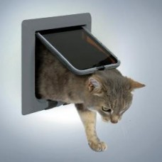 Дверца для кошки 4 позиции серая