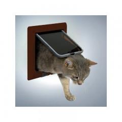 Дверца для кошки ( 16,5см х 17,4см) коричневая