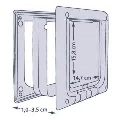 Дверца для кошки 4 позиции магнитная
