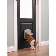 """Дверца для кошек """"Делюкс"""" с 4 поз. - серая"""