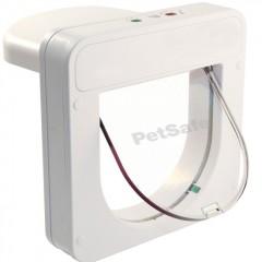 Программируемая микрочиповая дверца для кошек, белая