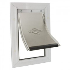 Алюминиевая дверца белая, размер S