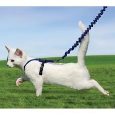 Шлейка прогулочная для кошек Easy Walk™- бол.голубая