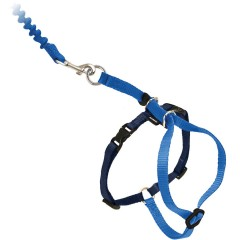 Шлейка прогулочная для кошек Easy Walk™- мал.голубая